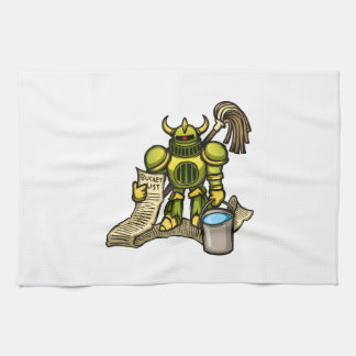 Bucket Knight Tea Towel