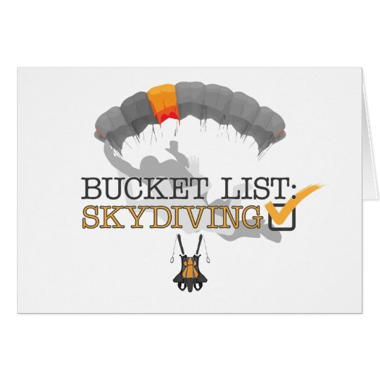 Bucket List: Skydiving (Customisable) Card