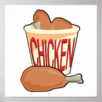 bucket of fried chicken print