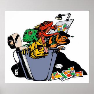 Bucket of Lizards Poster