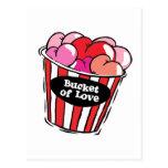 bucket of love png postcard