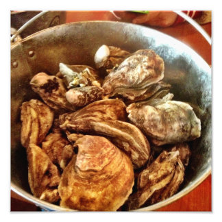 Bucket Of Oysters Photo Art
