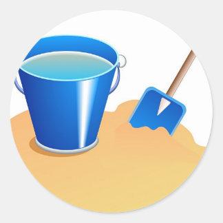 Bucket & Spade Classic Round Sticker