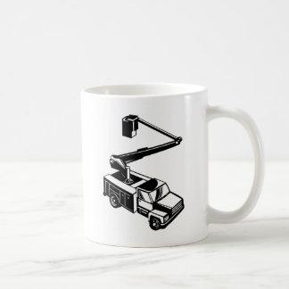 bucket truck cherry picker retro mug