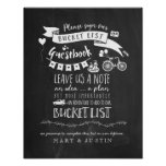 Bucketlist Guestbook Wedding Poster