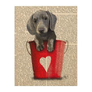 Buckets of Love Dachshund Puppy Wood Wall Art