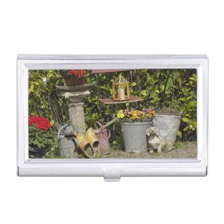 Buckets, shoes, and flowers, Zaanse Schans, Business Card Holder