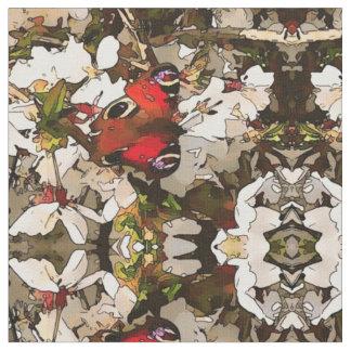 Buckeye Butterfly on Blossom Fabric