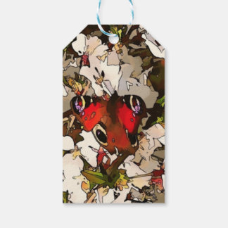 Buckeye Butterfly on Blossom Gift Tags