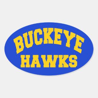 Buckeye Hawks Oval Sticker