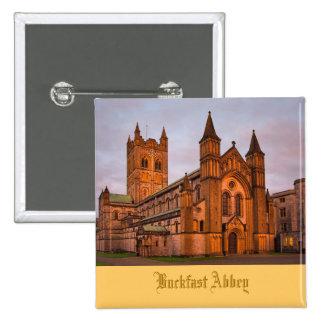 Buckfast Abbey at Sunset 15 Cm Square Badge