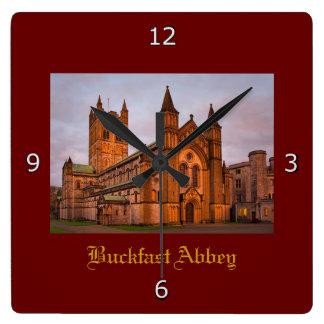 Buckfast Abbey at Sunset Clock