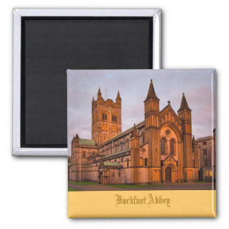 Buckfast Abbey at Sunset Square Magnet