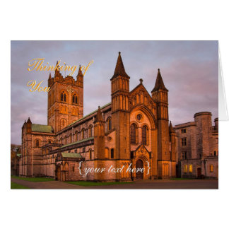 Buckfast Abbey at Sunset - Thinking Of You Greeting Card