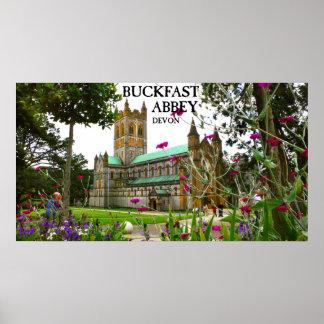 buckfast abbey, devon poster