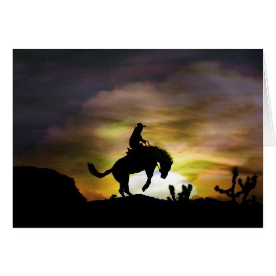 Bucking Bronc Cowboy Rider Birthday Card