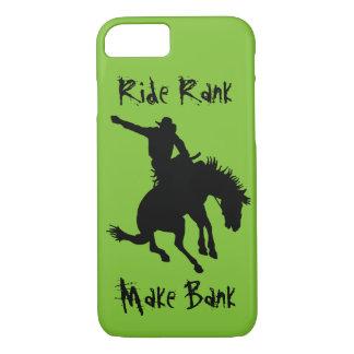 Bucking Bronc Riding Rodeo Cowboy Ride Rank Case