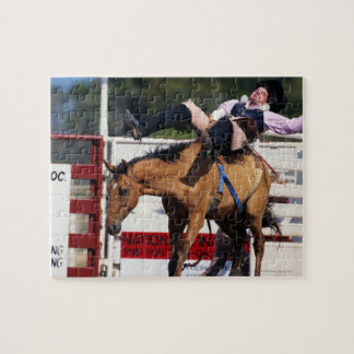 BUCKING BRONCO AT RODEO 3 JIGSAW PUZZLE