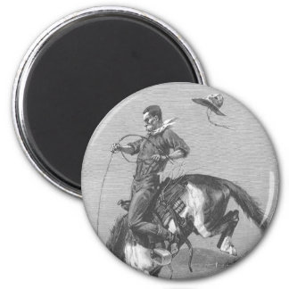 Bucking Bronco by Remington, Vintage Rodeo Cowboys Magnet
