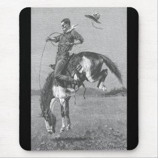 Bucking Bronco by Remington, Vintage Rodeo Cowboys Mousepad
