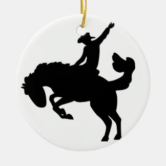 Bucking Bronco Rider Christmas Ornament