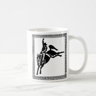 BUCKING HORSE BLACK AND WHITE mugs