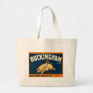 Buckingham Bartlett Apples - Vintage Crate Label Bag