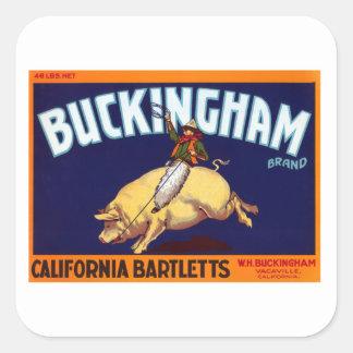 Buckingham Brand California Bartletts Square Stickers