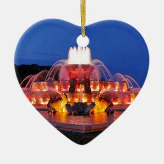 Buckingham Fountain 02.JPG Ceramic Heart Decoration