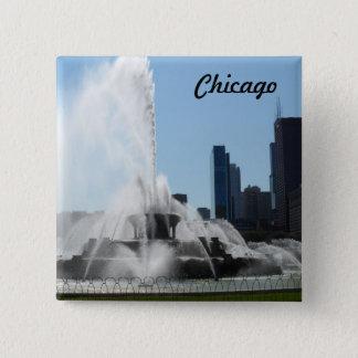 Buckingham Fountain - Chicago 15 Cm Square Badge