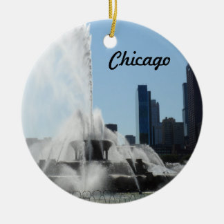Buckingham Fountain - Chicago Christmas Ornament