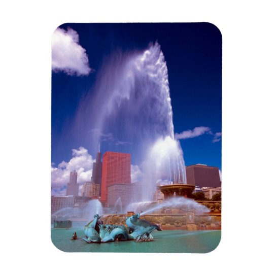 Buckingham Fountain Chicago Premium Flex Magnet