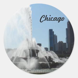 Buckingham Fountain - Chicago Round Sticker