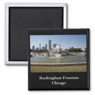 Buckingham Fountain, Chicago Square Magnet