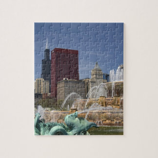 Buckingham Fountain located in Grant Park, Jigsaw Puzzle