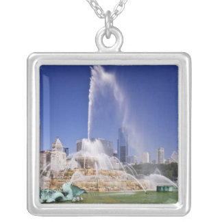 Buckingham Fountain Silver Plated Necklace
