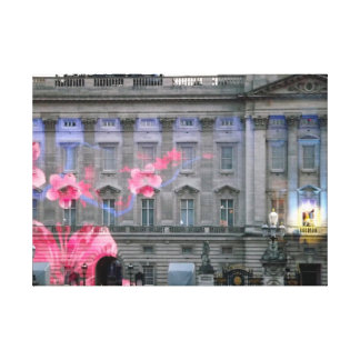 Buckingham palace lit up for the Queen's concert Canvas Print