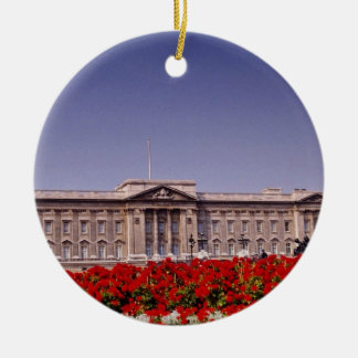 Buckingham Palace, London, England flowers Christmas Ornament