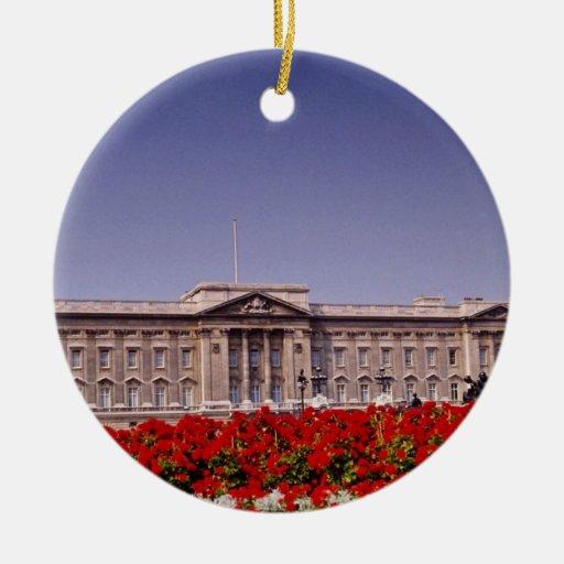 Buckingham Palace, London, England flowers Christmas Ornament