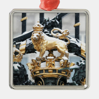 Buckingham Palace London Silver-Colored Square Decoration