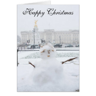 Buckingham Palace snowman London Greeting Card