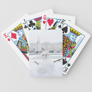 Buckingham Palace snowman London Poker Deck