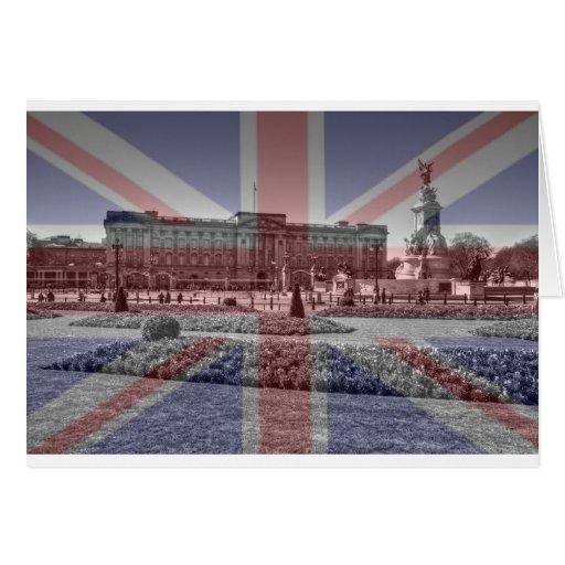 Buckingham Palace Union Jack Flag Card