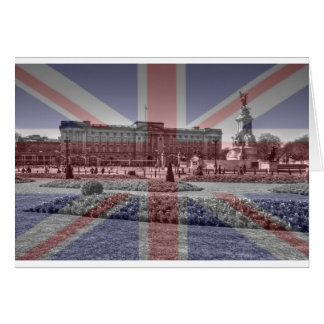 Buckingham Palace Union Jack Flag Greeting Card