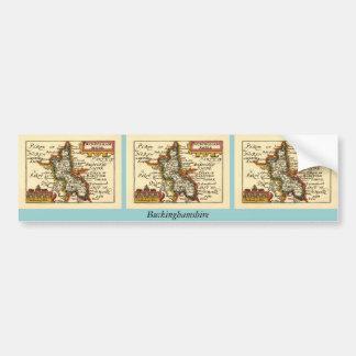 Buckinghamshire County Map, England Bumper Sticker