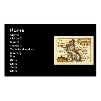 Buckinghamshire County Map, England Pack Of Standard Business Cards