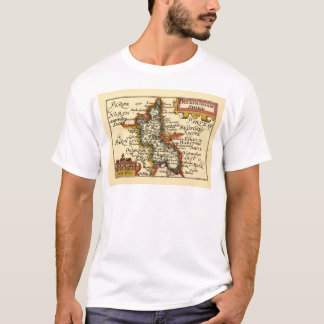 Buckinghamshire County Map, England T-Shirt