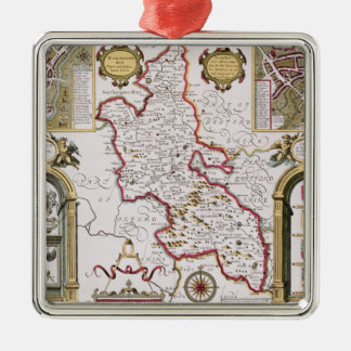 Buckinghamshire, engraved by Jodocus Christmas Ornament