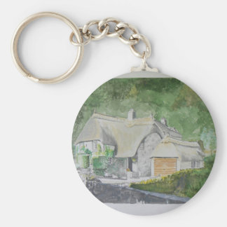 Buckland in the Moor Basic Round Button Key Ring