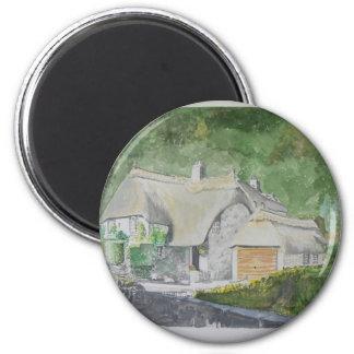 Buckland in the Moor 6 Cm Round Magnet